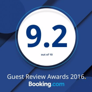 9.2 rating on Booking.com